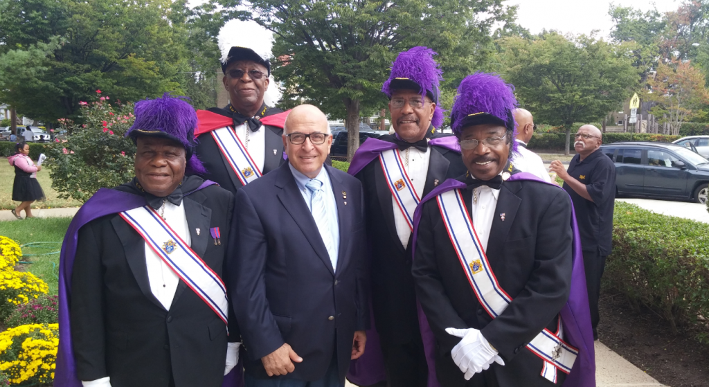 Sir Rateb Rabie with fellow members of the Knights of Columbus at St. Gabriel Church.