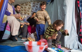 Christian refugees in Mar Elia parish centre in the Ankawa, Erbil, Iraq. Credit: Aid to the Church in Need.