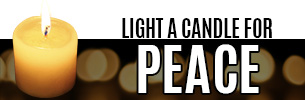 Light a candle for peace in the Holy Land