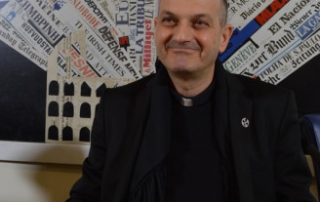 The Rev. Jacques Mourad speaking on Thursday (Dec. 10) at Rome's foreign press association.