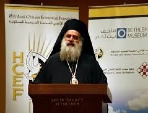 Quotation from Archbishop Atallah Hanna