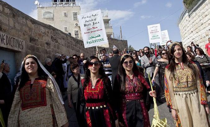 Palm Sunday procession beit jala