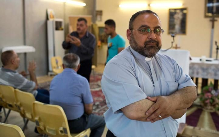 Father Martin Hermis Dawood now tells his flock that if they want to leave, they should go immediately