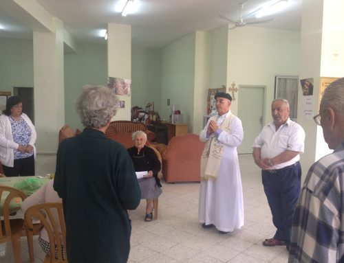 Birzeit Senior Citizens Celebrate the Traditions of the Easter Season