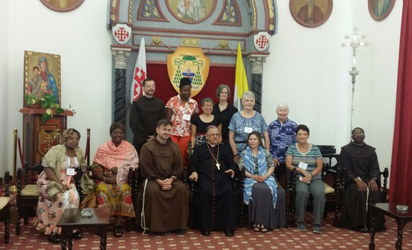 His Beatitude Patriarch Fouad Twal, Latin Patriarchate of Jerusalem, receives Pilgrims in an audience.