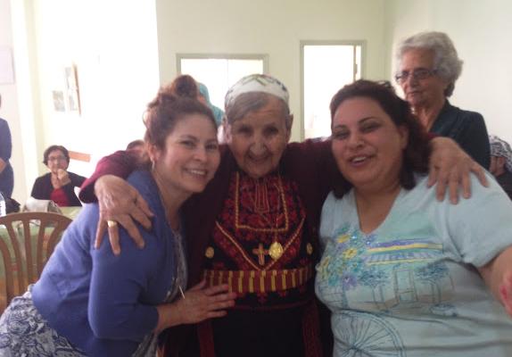 Pilgrims at the Birzeit Senior Citizen Center