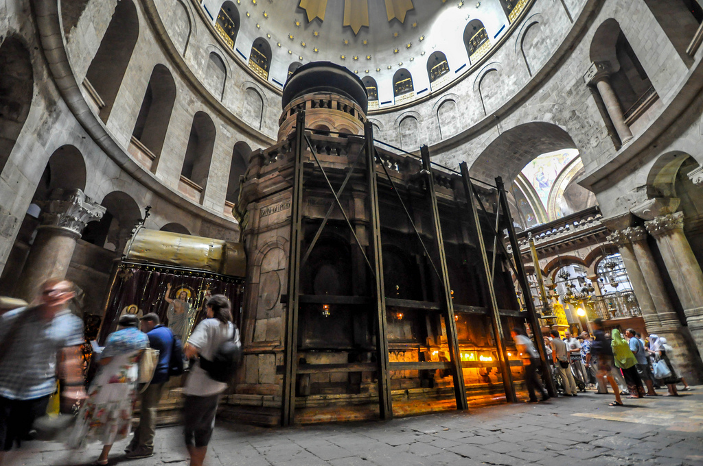 The Tomb of Jesus inside the Church of the Holy Sepulchre. AP Photo