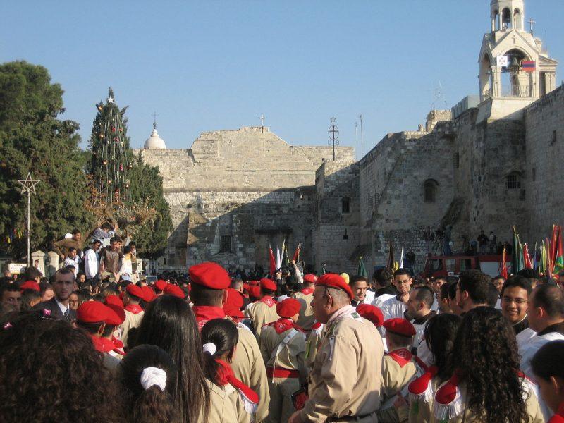 Palestinian_Christian_Scouts_Nativity_Church_in_Bethlehem_Christmas_Eve_2006