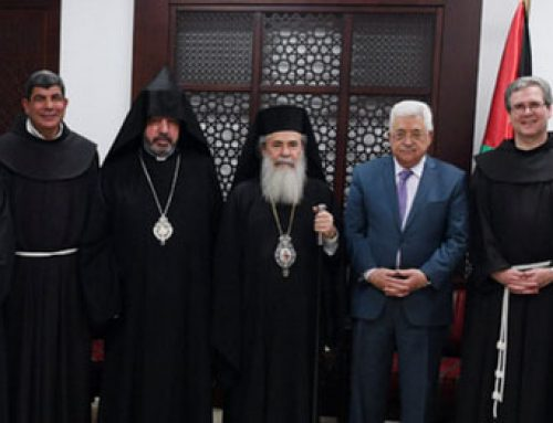 Palestinian president Abbas contributes to the restoration of the Tomb of Christ