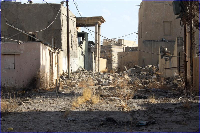 Karamlesh was held by ISIS for more than two years. The militants dug tunnels and filled shops and houses with explosives. ( Alice Fordham/NPR)