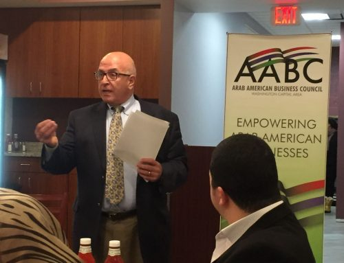 HCEF's President address the Arab American Business Council