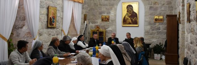 The Coordination of the Pastoral Care of Migrants meets with Archbishop Pizzaballa
