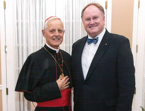 "HCEF Board of Directors member Hugh Dempsey receives the ""Manifesting the Kingdom Award"" from the Archdiocese of Washington"