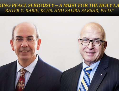 Taking Peace Seriously – A Must for the Holy Land