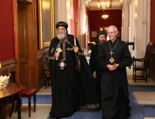 Egypt's Coptic Pope meets the Queen and the Archbishop of Canterbury in historic UK visit
