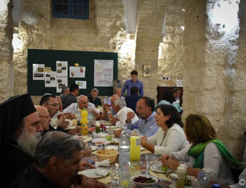 Muslims and Christians gathered at the House of Abraham for iftar