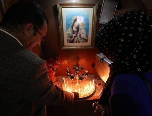 A statue of Our Lady removed in Basra to avoid tensions between religious communities