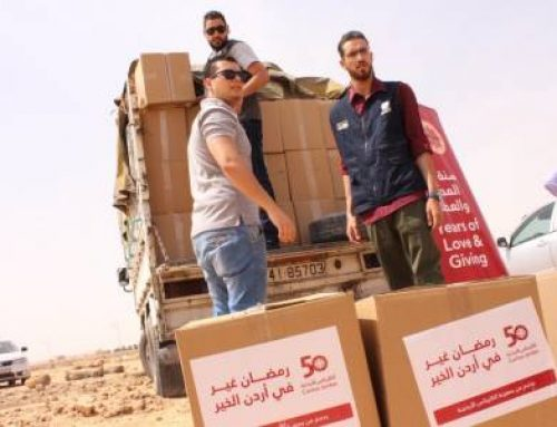 Caritas Jordan distributes humanitarian aid to Muslims in the month of Ramadan