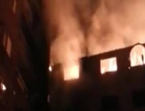 Fire in a church, the imam launches the SOS and calls for help from the mosque's loudspeakers
