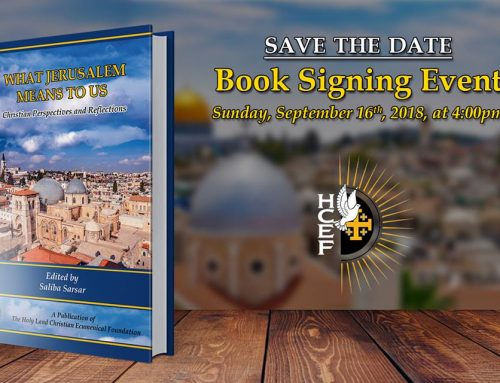 A Discussion and Book Signing What Jerusalem Means to Us Christian Perspectives And Reflections