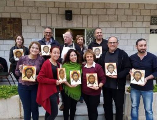 To paint the face of Christ. An iconography course for Iraqi parishioners and refugees in Amman.