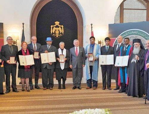 King honours winners of 2019 World Interfaith Harmony Week Prize.