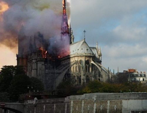 Holy Land Christian leaders pray for Cathedral of Notre-Dame of Paris following fire.