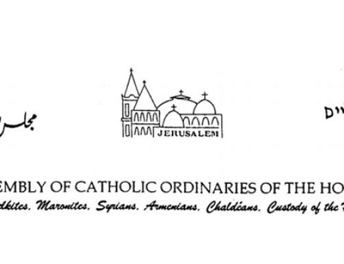 Assembly of Catholic Ordinaries calls on people of Holy Land to build bridges of respect and love