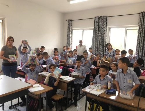 HCEF sowed joy to 2500 students in Palestine by distributing school kits