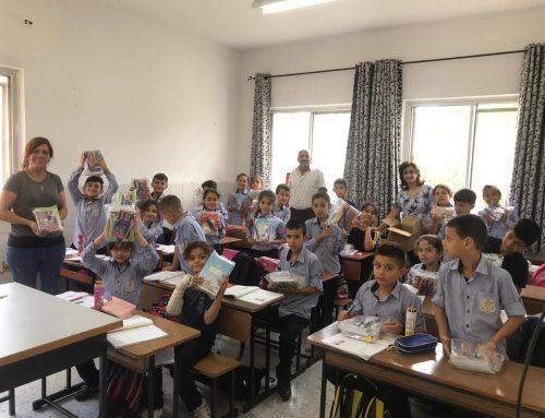HCEF sembró alegría para 2500 estudiantes en Palestina al distribuir kits escolares