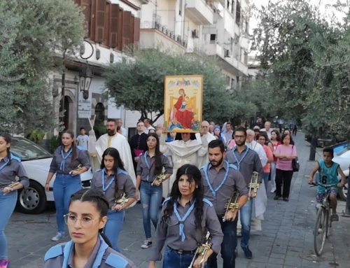 Icon blessed by pope brings hope to streets of Syria.