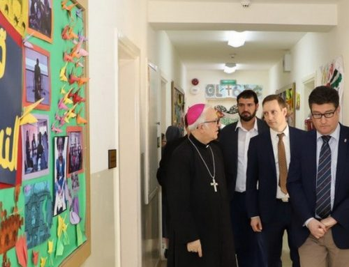 Hungarian official visits Caritas Jordan, Our Lady of Peace Center.