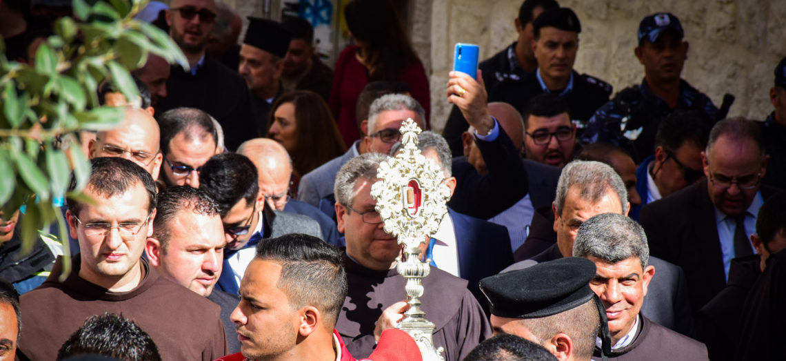 Fragment of relic of Sacred Crib of Jesus arrives in Bethlehem from Basilica of St. Mary Major.