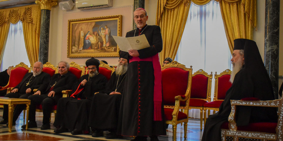 The Latin Patriarchate extends Christmas greetings at the Greek Orthodox Patriarchate.
