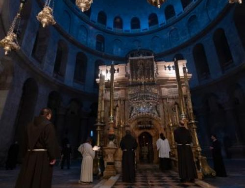 The Basilica of the Holy Sepulchre in the times of Covid-19.