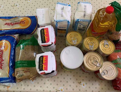 HCEF distribuyó cajas de alimentos a 100 familias necesitadas afectadas por la crisis COVID -19 en Ramallah, Jifna, Atara y Birzeit.