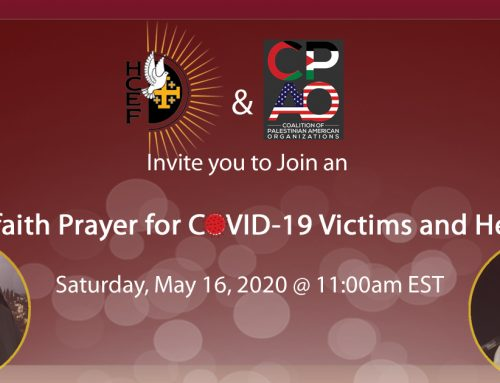 Interfaith Prayer for COVID-19 Victims and Heroes.