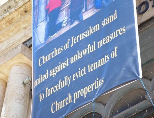 Jerusalem: Patriarchs and Heads of Churches react to court's ruling in Jaffa Gate case.
