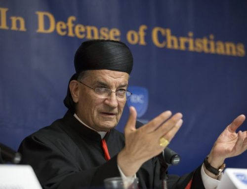 Cardinal likens fading Christian presence in Middle East to a sinking ship.
