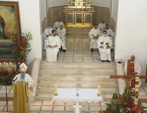 Solemn Mass marking Feast of Mary Queen of Palestine.
