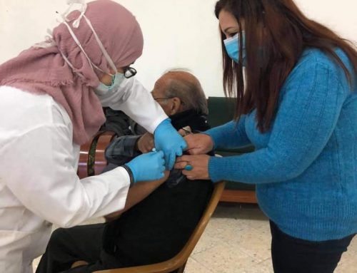 HCEF Provides Flu Shots to the Senior Citizens of Birzeit.