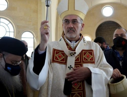 Abp Pizzaballa on his first pastoral visit to Jordan as Latin Patriarch.