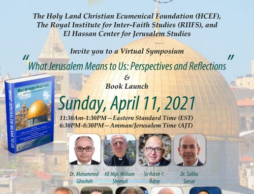 What Jerusalem Means to Us: Perspectives and Reflections' Symposium.