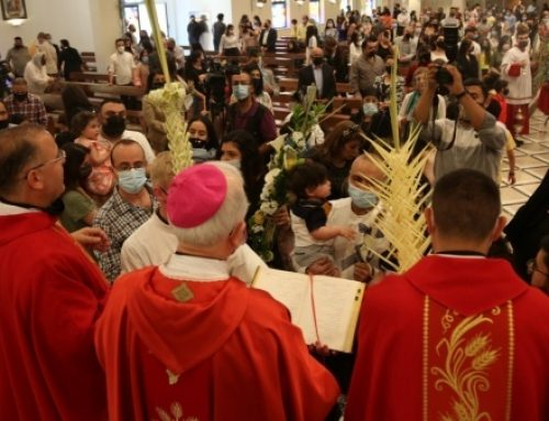 Christians in Jordan celebrate Palm Sunday after 2-month hiatus.