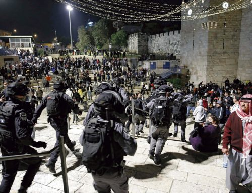 With the escalation of confrontations in occupied Jerusalem.