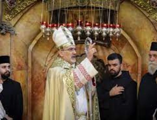At Easter Sunday Mass, Patriarch Pizzaballa tells Holy Land Christians 'nothing is impossible'.