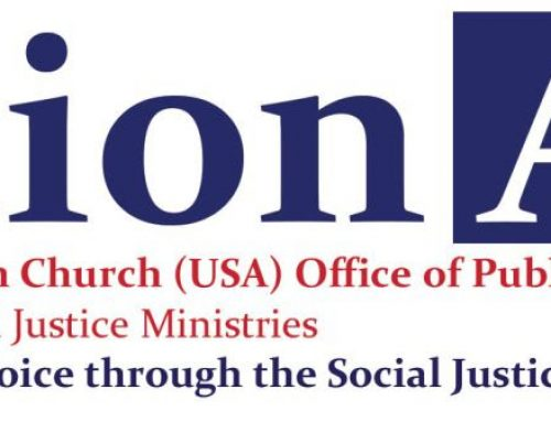 Action Alert from The Presbytarina church (USA).