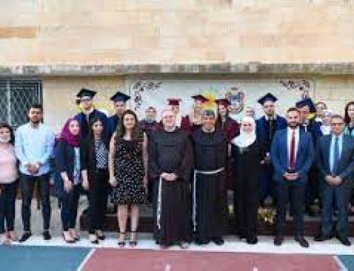 Diplomas awarded at Terra Sancta Schools in Jerusalem and Bethlehem.