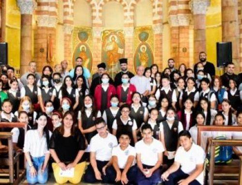 HOLY LAND – Young Christians from different Churches pray together for peace in Jerusalem.