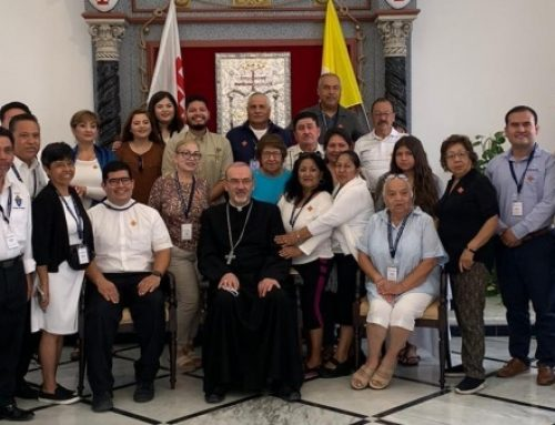 Patriarch Pizzaballa receives first group of American pilgrims.